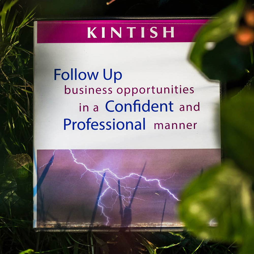 Kintish Products - Follow up Business Opportunities in a Confident and professional manner